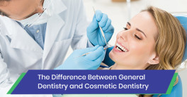 Difference between general and cosmetic dentistry